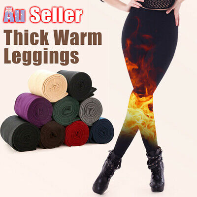 Women's Slim Winter Warm Stockings Footless Leggings Skinny Pants Stretch Thick