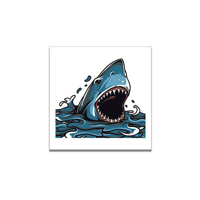 Shark Watercolor Painting Poster Living Room Wall Picture Room Home Decor Gifts