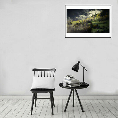 Smoke Village  Poster Canvas Art Painting Living Room Picture Wall Decor Gifts