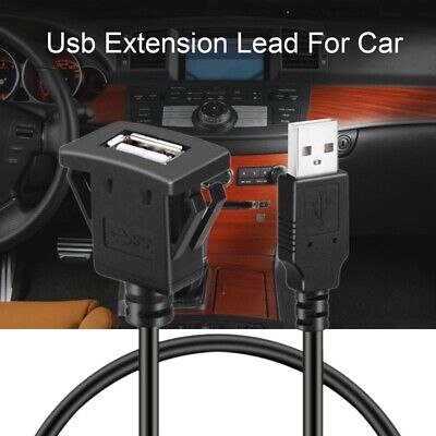 Car Dash board Flush Mount USB Male to Female Socket Extension Panel Cable  F4Y8