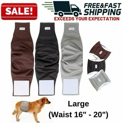 Reusable Male Dog Diapers Washable Soft Belly Band Waist Wrap Waterproof  3 Pack