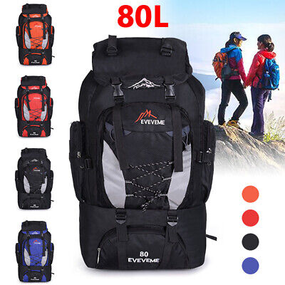 80L Waterproof Travel-Backpack Hiking Backpack Camping Outdoor Sports Rucksacks