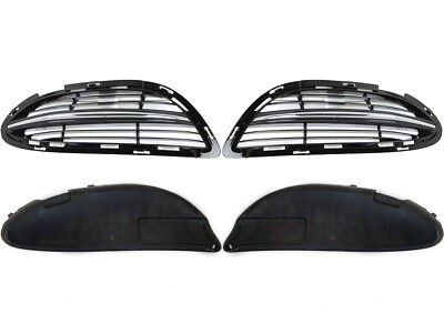 Mercedes-Benz S-Class W222 Front L R Grille + Chrome Trim + Inner Cover Set