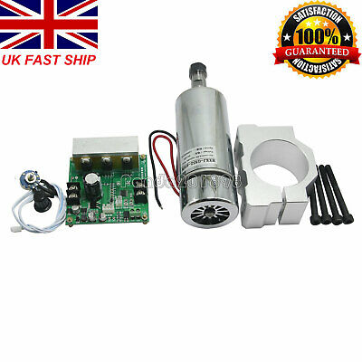 CNC ROUTER MILLING Air Cooled 0.4KW Spindle Motor & PWM Speed Controller panUK#