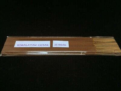 Himalayan Cedar Incense Stick Hand Dipped with Natural Essential Oils (25sticks)
