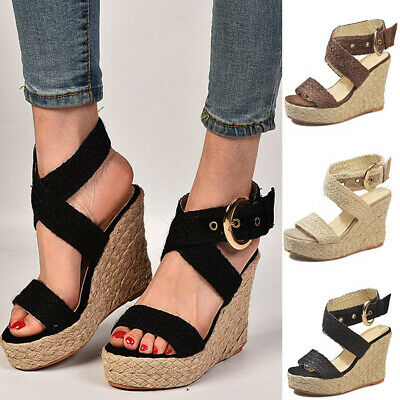 1c9a644ce0f STYLE & CO Women's Mailena Wedge Espadrille Ankle Strap Sandals Size ...