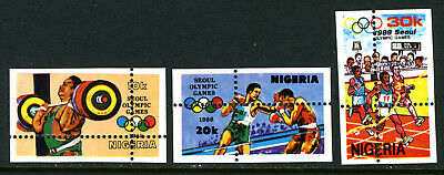 Nigeria 1988 Mnh set PERFORATION MISPLACED Olympic Games Seoul