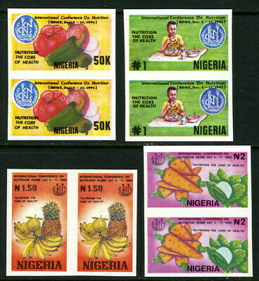 Nigeria 1992 Mnh set IMPERFORATE International Conference on Nutrition