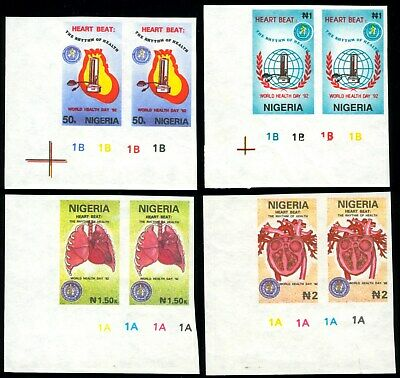Nigeria 1992 Mnh Set IMPERFORATE World Health Day