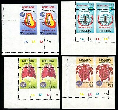 Nigeria 1992 Mnh Set PERFORATION MISPLACED World Health Day