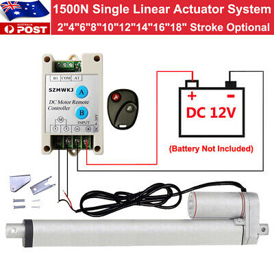 1500N 12V DC Linear Actuator +Positive Inversion Controller +Brackets Auto Lift