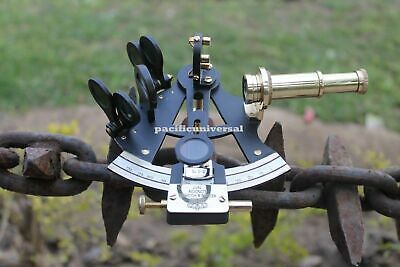 """Vintage Style Brass Polish Sextant ~Maritime Replica Ship Astrolabe Gift 4""""."""