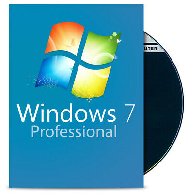 Windows 7 Professional 64 Bit - DVD + COA Win 7 Pro Deutsch English & Multi