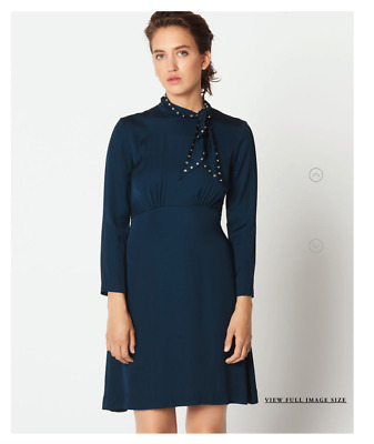 Sandro KIN Dress with Studded Bow Collar MSRP $395 ( incredibly flattering)