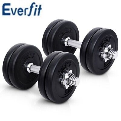 Everfit 15KG Dumbbell Set Weight Dumbbells Plates Home Gym Fitness Exercise Heal