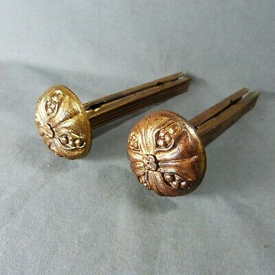 Pair of Antique French Ormulu Curtain Tiebacks Ornate Bronze & Brass 19th c.