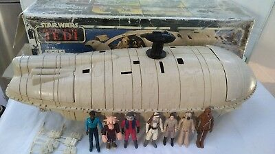 Vintage STAR WARS Palitoy Kenner 1982 REBEL TRANSPORT Hoth Backpacks Figures Box