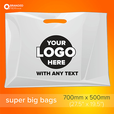 Personalized Custom Printed Plastic Carrier Bags with your logo