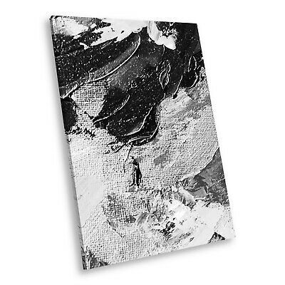 AB1631 Black White Abstract Portrait Canvas Picture Print Large Wall Art Retro