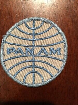Pan American Airlines Small Vintage PanAm  Shirt / Jacket Patch -2 5/8