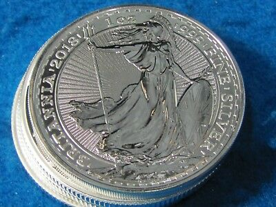 GREAT BRITAIN 1 oz .999 PURE SILVER BRITANNIA BU PROOF.combine shipping save $$$