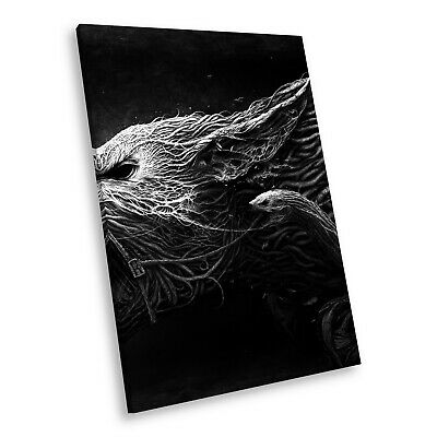 A114 Black White Animal Portrait Canvas Picture Print Large Wall Art Wolf Modern