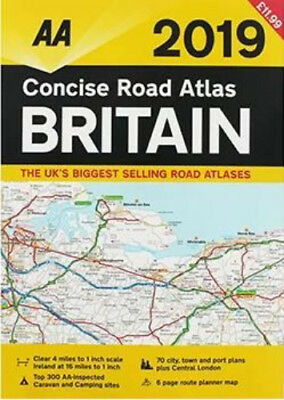 Concise Road Atlas of Britain: 2019 by AA Publishing (Spiral bound)