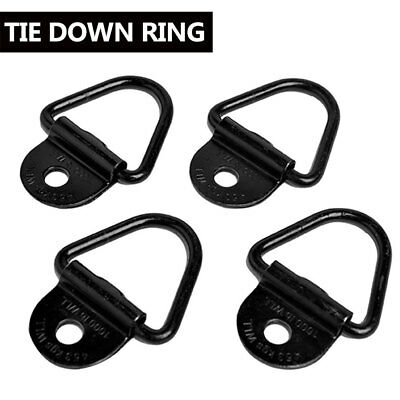 "4PCS 2"" Cargo Strap Tie Down Rings Flatbed Truck Van Trailer Ring Anchor Set"
