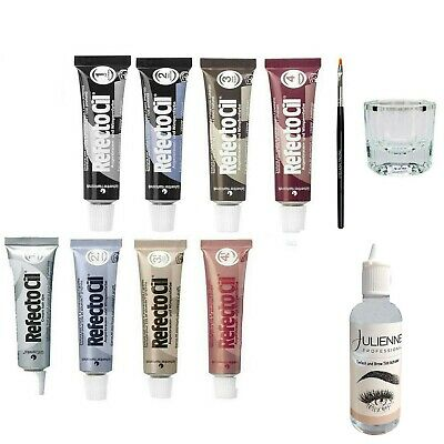 Refectocil Eyelash Tint Eyebrow Tinting Dye Kit Brush Dish Eye Lashes Developer