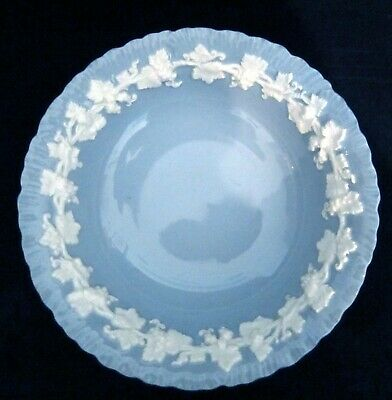 Wedgwood Queensware CEREAL BOWLS Cream Color On Lavender Shell Edged