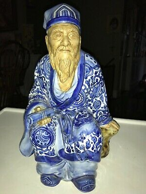 Antique Japanese Export Statue 20th Century