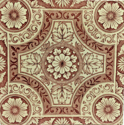 Antique Ceramic Tile Pink Colour