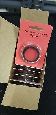 10 AirTite H31 BLACK Coin Capsules 31mm For Australian Penny / UK Penny Storage
