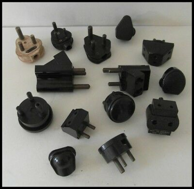 Vintage Bakelite Electrical Plugs - Job Lot. Retro. Interior Design. Film Props