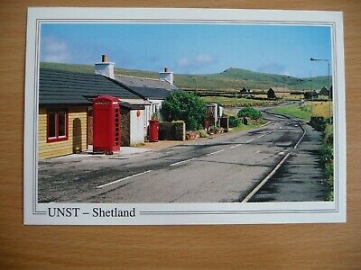 Balatasound Post Office, Unst, Shetland on postcard.