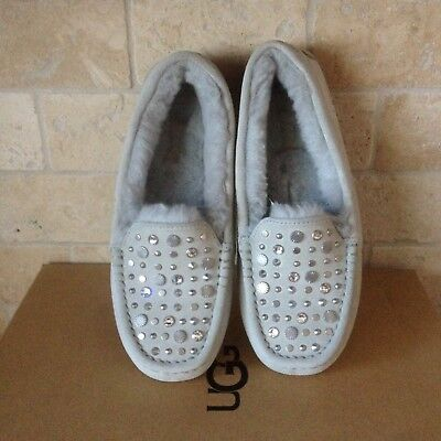 f00b2a7bbf5 UGG ANSLEY STUDDED Bling Suede/ Sheepwool Moccasin Slippers, Us 9 ...