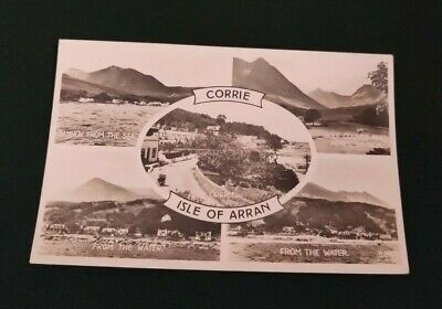 Vintage Postcard,  Isle of Arran Corrie RP Unposted