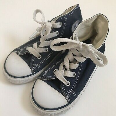 848449f8ca2d Converse All Star Chucks Boys Girls Navy Blue High Top Canvas Size 9  Sneakers