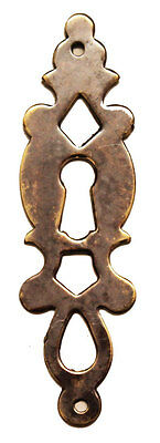 "3.5"" Antique Style Solid Brass Fretted Escutcheon 1572A/B"