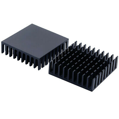 35*35*10mm Black Anodized Aluminium Heat Sink For Power Transistor/TO-126/TO-220