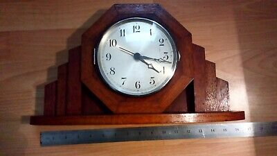 Vintage mantle clock. Made in Dublin by The Electric clock Co. needs a new motor