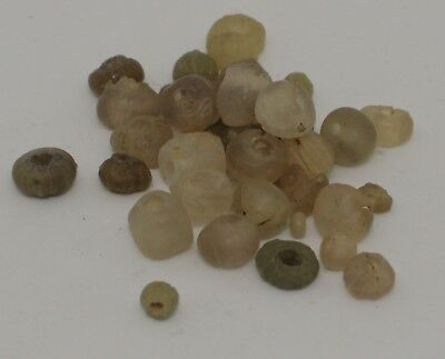 Ancient Roman Gold Colour Glass Beads Circa 2Nd Century Ad - No Reserve 224