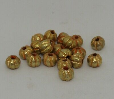 20 X Post Medieval Gold Beads - No Reserve 2902