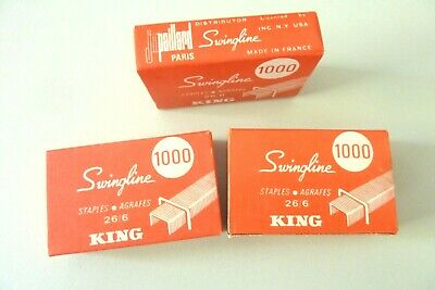Swingline STAPLES- AGRAFES  26/6 KING USA LOT DE TROIS BOITES