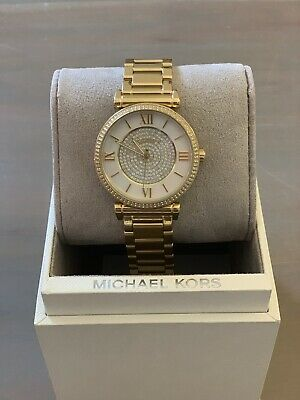 a41efd9f660f MICHAEL KORS WOMEN S MK3332  Catlin  Gold-Tone Stainless Steel Watch ...