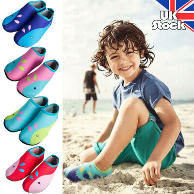 Children Kids Water Shoes Aqua Socks Diving Socks Pool Beach Swim Slip On Surf