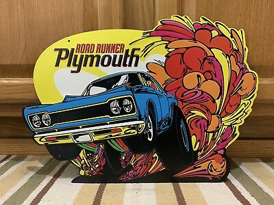 Plymouth Road Runner Metal Gas Oil Parts Tire Garage Challenger Vintage Style