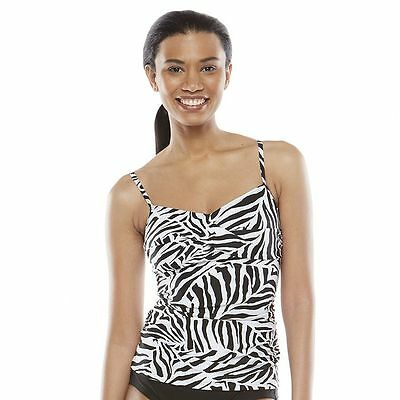 9af1a9d5aa8f1 Women's Croft & Barrow Fit For You Bust Enhancer Tankini Tops, Sizes 6,8