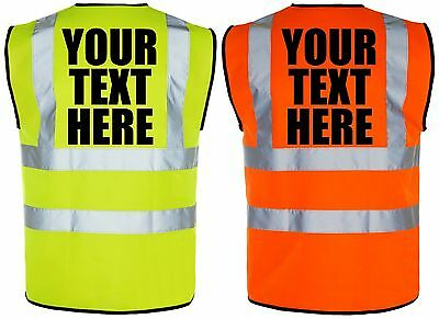 Personalized Printed Hi Visibility Kids Safety Vest Waistcoat Reflective Stripes