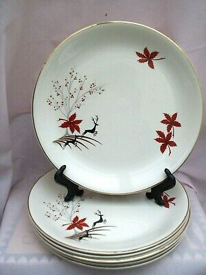 Pottery Pottery, Porcelain & Glass Vintage Alfred Meakin Plate Red Sails Large Assortment